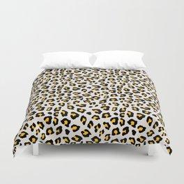 Leopard Print - Mustard Yellow Duvet Cover