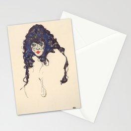 """Egon Schiele """"Frau mit schwarzem Haar (Woman with black hair)"""" Stationery Cards"""