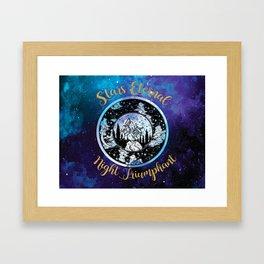 A Court of Mist and Fury - Stars Eternal Night Triumphant Framed Art Print