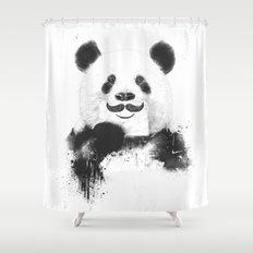 Funny panda Shower Curtain
