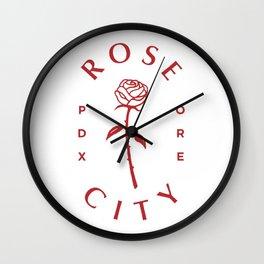 Rose ,Portland,Oregon,city Wall Clock
