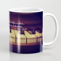 mozart Mugs featuring Mozart Music by KimberosePhotography