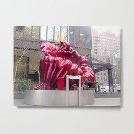 Public artwork - red flower Metal Print
