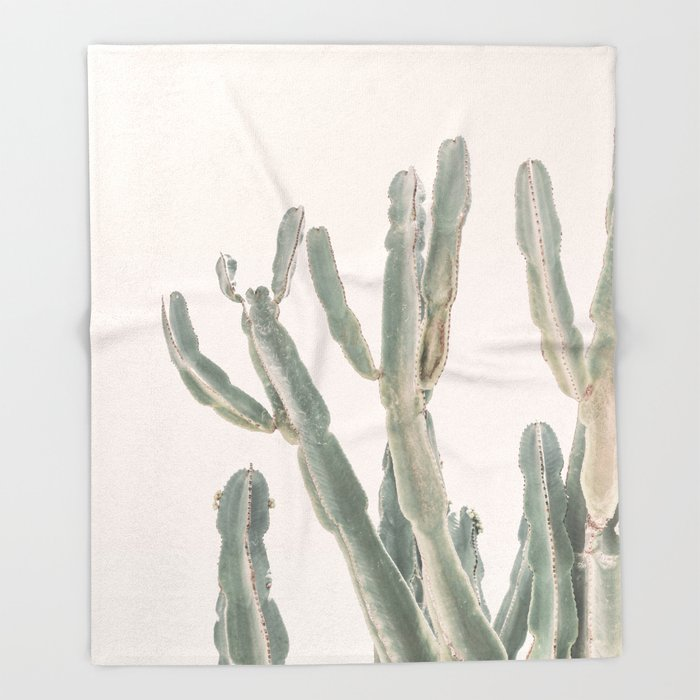 Sunrise Cactus Throw Blanket