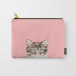 Kitten cutest pastel gift for valentines day cat pet friendly furry friend fur baby kittens animal Carry-All Pouch