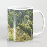 forrest Mugs featuring Forrest Green by Bizzack Photography