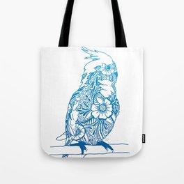 Henna Cockatiel - White background Tote Bag