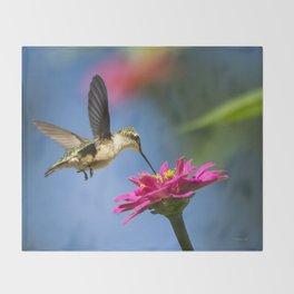 Hummingbird Flight Throw Blanket