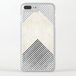 Golden polygon XIV Clear iPhone Case