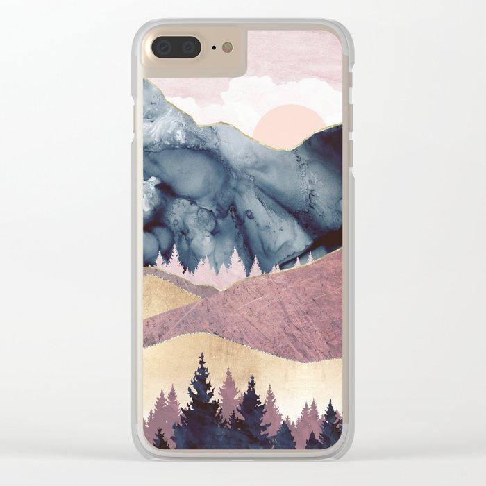 Mauve Vista Clear iPhone Case