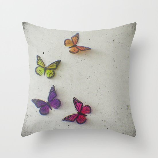 Oh to be a Butterfly Throw Pillow