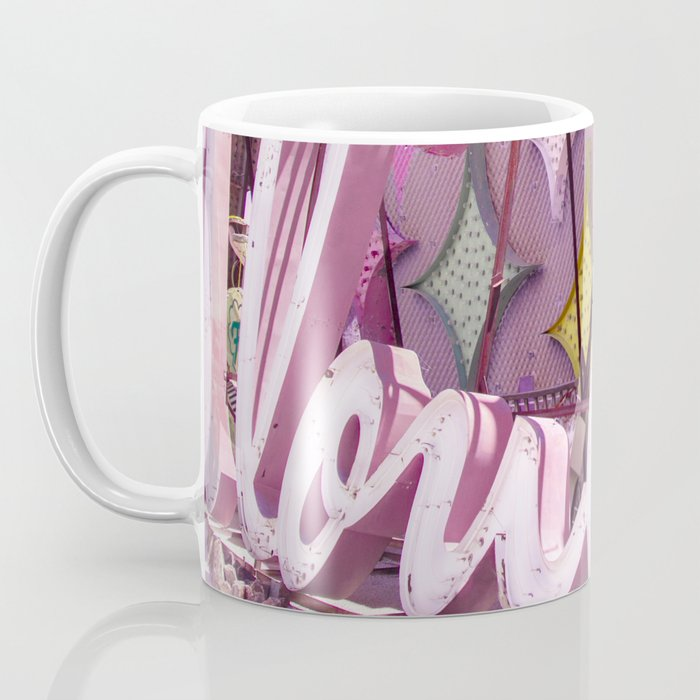 """Pink """"In Love"""" Sign at the Neon Museum in Las Vegas, Nevada Coffee Mug"""