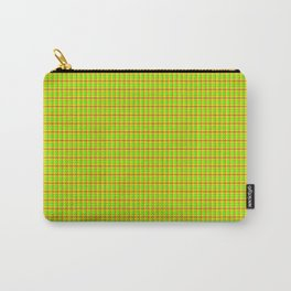 Flamboyant Canary Plaid Carry-All Pouch