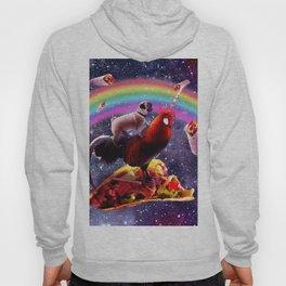 Space Pug Riding Chicken Unicorn - Taco & Burrito Hoody