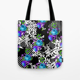 MODERN TOILE BLACK AND WHITE PATTERN Tote Bag