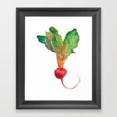 red beet Framed Art Print