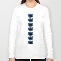 cookie monster Long Sleeve T-shirts featuring Cookie Monster  by aldarwish