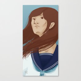 Serafuku Girl Canvas Print