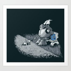 Here Ya Go Little Fella! Art Print