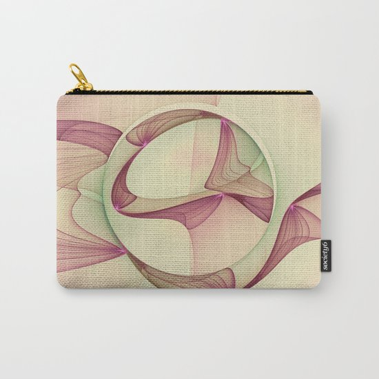 The Abstract Elegance, Modern Fractal Art Carry-All Pouch