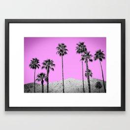 Pink Palm Trees / Desert / Palm Springs Framed Art Print