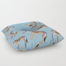 Totem Coastal wolf (c) 2017 Floor Pillow