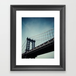 Moody Manhattan Framed Art Print