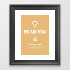 Disney Princesses: Pocahontas Minimalist Framed Art Print