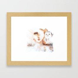 Des neiges Framed Art Print