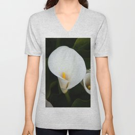 Calla Lily in Bloom Unisex V-Neck
