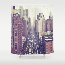 flying over first... (colour) Shower Curtain