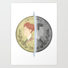 Heads or Tails ? Art Print