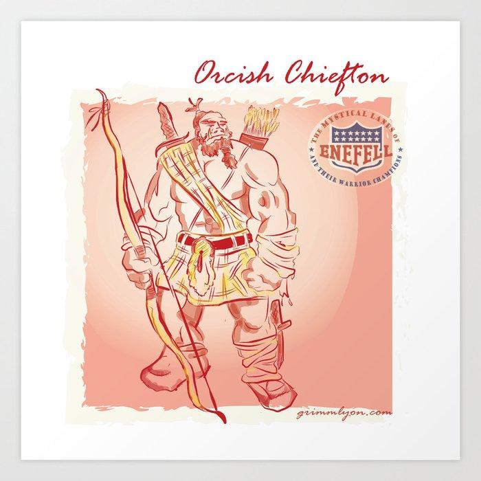 Orcish Chiefton Art Print