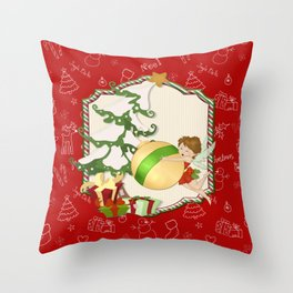 Fairy Merry Christmas Throw Pillow