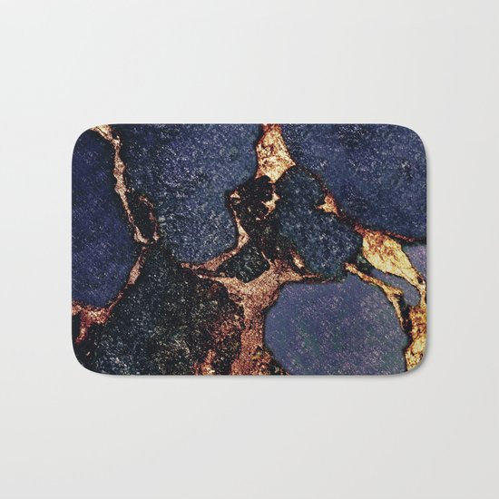 INDIGO & GOLD GEMSTONE Bath Mat