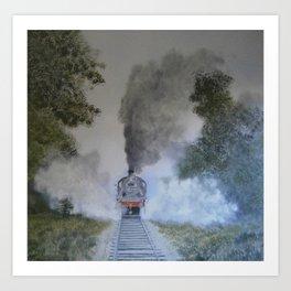 Letting off Steam Art Print