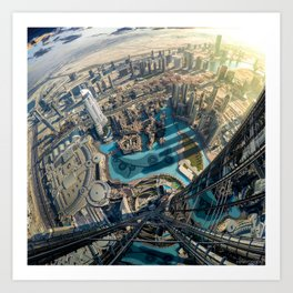 On top of the world, Burj Khalifa, Dubai, UAE Art Print