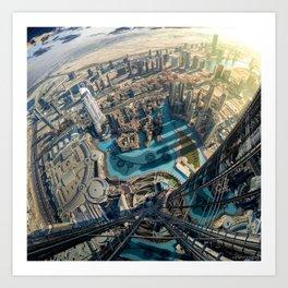 On top of the world, Burj Khalifa, Dubai, UAE Art Print