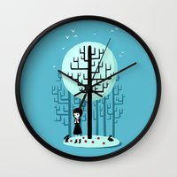 snow white Wall Clocks featuring Snow White by Freeminds