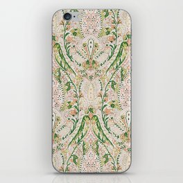 Green Pink Leaf Flower Paisley iPhone Skin