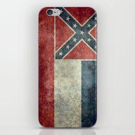 Mississippi Flag, Worn Retro Style iPhone Skin