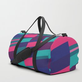 Neon Night Strips Duffle Bag