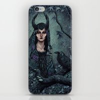 maleficent iPhone & iPod Skins featuring Maleficent by Angela Rizza