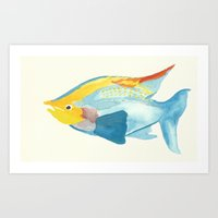 Watercolor Fish Art Print