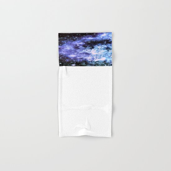 Chaotic Space : Galaxy Periwinkle Blue Lavender Gray Hand & Bath Towel