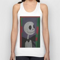 nightmare before christmas Tank Tops featuring JACK SKELLINGTON/NIGHTMARE BEFORE CHRISTMAS by Kathead Tarot/David Rivera