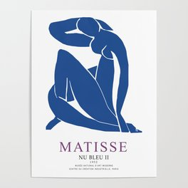 Henri Matisse Nu Bleu II (Blue Nude II) 1952 Artwork for Wall Art, Prints, Posters, Tshirts, Men, Women, Youth Poster