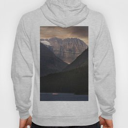 Sunrise Over Grinnell Glacier and Swiftcurrent Lake. Hoody