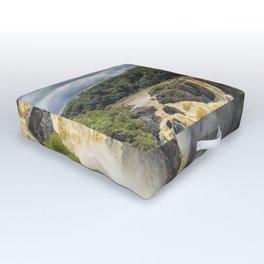Beautiful wild waterfall Outdoor Floor Cushion