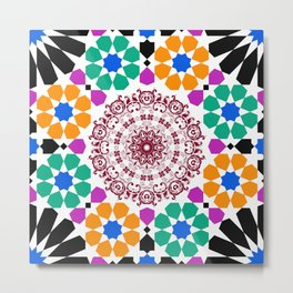 full color mandala Metal Print